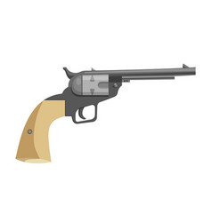 cartoon revolver icon vector image