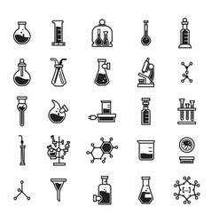 chemistry icon set simple style vector image
