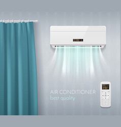 Climate control poster vector