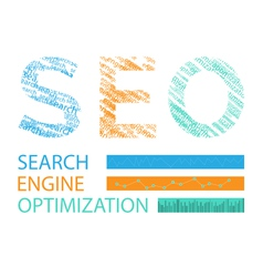 concept of SEO word vector image