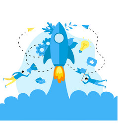 concept startup launch a new business vector image