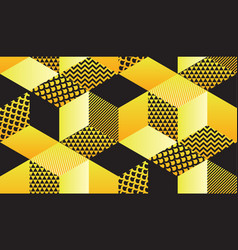 cool retro 90s geometric hexagon seamless motif vector image