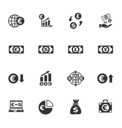 Currency exchange icon set vector