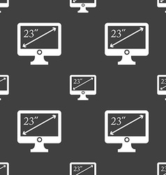 Diagonal of the monitor 23 inches icon sign vector