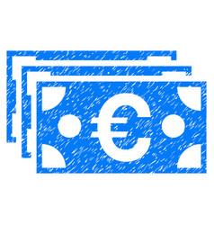 euro banknotes grunge icon vector image