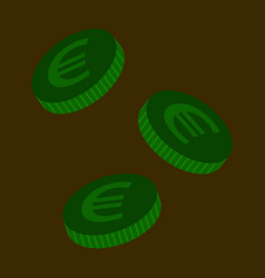 flat icon on stylish background euro cents vector image