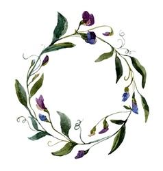 Flower wearth vector