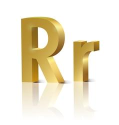 Golden letter r vector