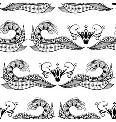 hand drawn seamless pattern with abstract doodles vector image