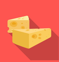 hard cheese icon in flat style isolated on white vector image