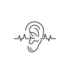 Hearing test line icon concept hearing test vector