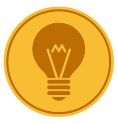 hint bulb gold coin vector image