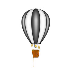 hot air balloon in black and white design vector image