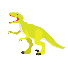 Isolated dinosaur toy vector