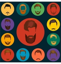 Mans trendy haircut types for barber shop vector image