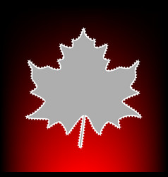 maple leaf style vector image