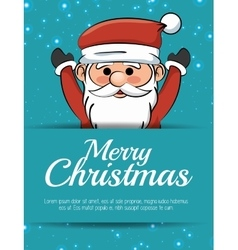 merry christmas card santa claus happy vector image