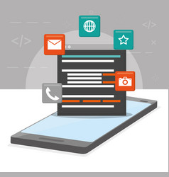 mobile app development vector image