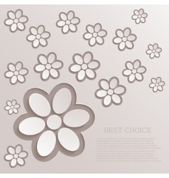 modern flowers background vector image