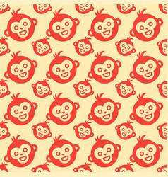 Monkey seamless pattern vector