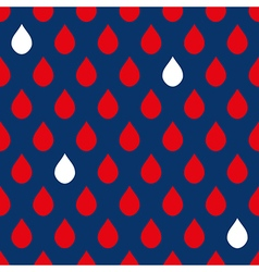 Navy Blue Red White Water Drops Background vector
