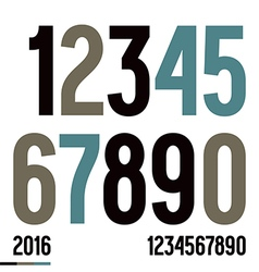 Numerals in newspaper style vector