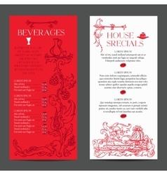 Old medieval style menu vector