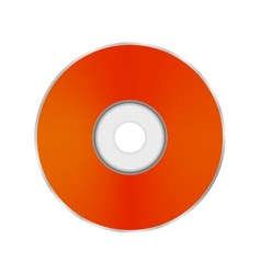 Orange Compact Disc vector image