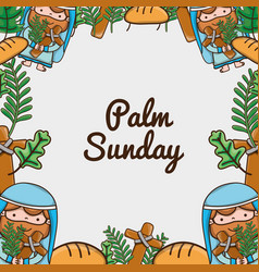 Palm sunday catholic traditional religion vector