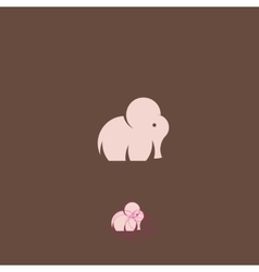 Pink Tiny Elephant Abstract Logo Template vector