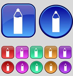 Plastic bottle with drink icon sign A set of vector image