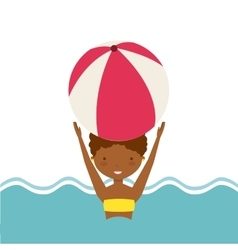 Pool party enjoy icon vector