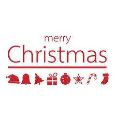 red christmas ornament with merry christmas text vector image