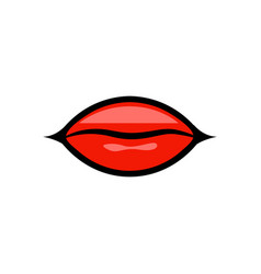 Red lips design isolated on white background vector