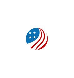 round america flag icon logo vector image