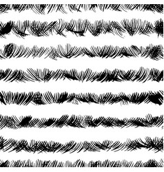Scribbles ink brushstrokes seamless pattern vector