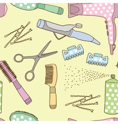 Seamless of Hairdresser accessories vector image