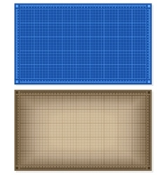 Set of blueprint backgrounds vector image