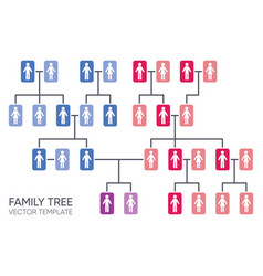 Simple your family tree design template vector