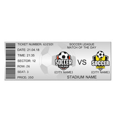 soccer ticket vector image