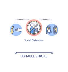 Social distancing concept icon stop spread vector