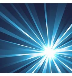Star burst background in blue vector