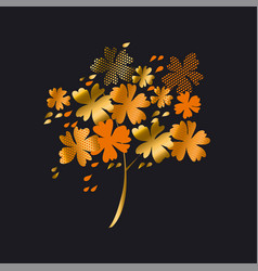 stylized autumn floral tree vector image