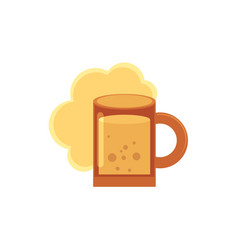 Stylized flat style icon of beer ale cider mug vector