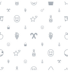 Sweet icons pattern seamless white background vector