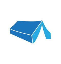 tent icon design template isolated vector image