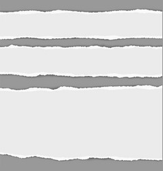 Three horizontal torn paper stripes with shadow vector