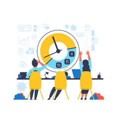time management concept people work hard vector image
