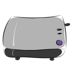 toaster hand drawn design on white background vector image