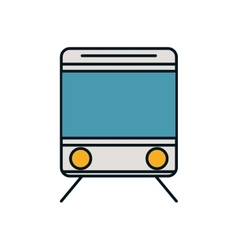 Train transportation vehicle travel icon vector